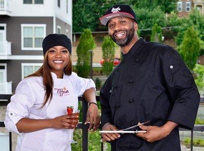Chef TiffMo and Chef Lloyd White